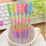 New Kawaii Water Chalk Paint Pen 6 Different Color Gel Pen for kid Gift Novelty Products Stationery Free shipping 245
