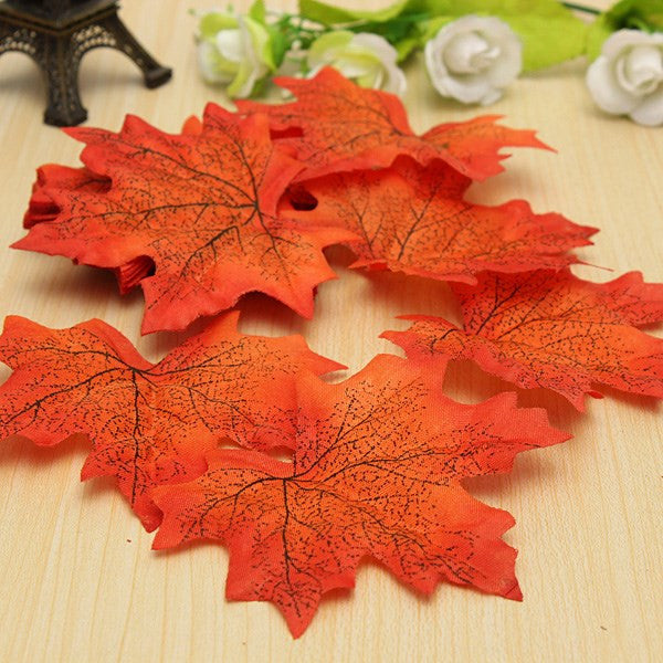2015 50pcs Maple Autumn Leaves Wedding Decoration decor