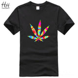 HanHent Weed leaf Hip Hop t shirt Men 2016 Summer New women/men O-Neck Casual Short Sleeve Printed t-shirt Tops O-neck Tees