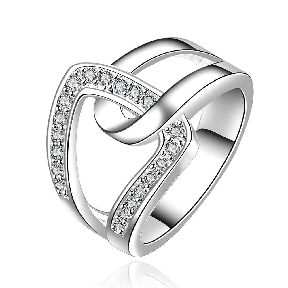 Lose Money Promotions! Wholesale 925 silver ring, 925 silver fashion jewelry, hand in hand qua Ring  SMTR634
