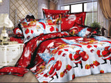 HOT!  christmas bedding sets for children bed linen with fitted sheet  bed sheets kids christmas gift bedding set  twin full