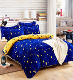 plaid stripe kids fleece bedding set queen size thick winter bed cover duvet cover set bed linen/sheet pillowcase christmas gift