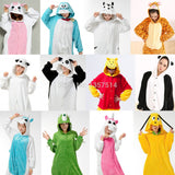 NEW Adult Pajamas Cosplay Cartoon Animal Onesie Sleepwear Cat Tiger Winnie Bear Panda Dog Unicorn Free Shipping