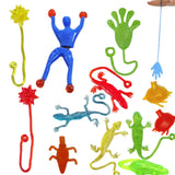 1 piece  9cm*3cm Silica gel robot Climbing Spider-Man  sticky Spiderma Superman Climbing on glass for kids fuuny toy boy