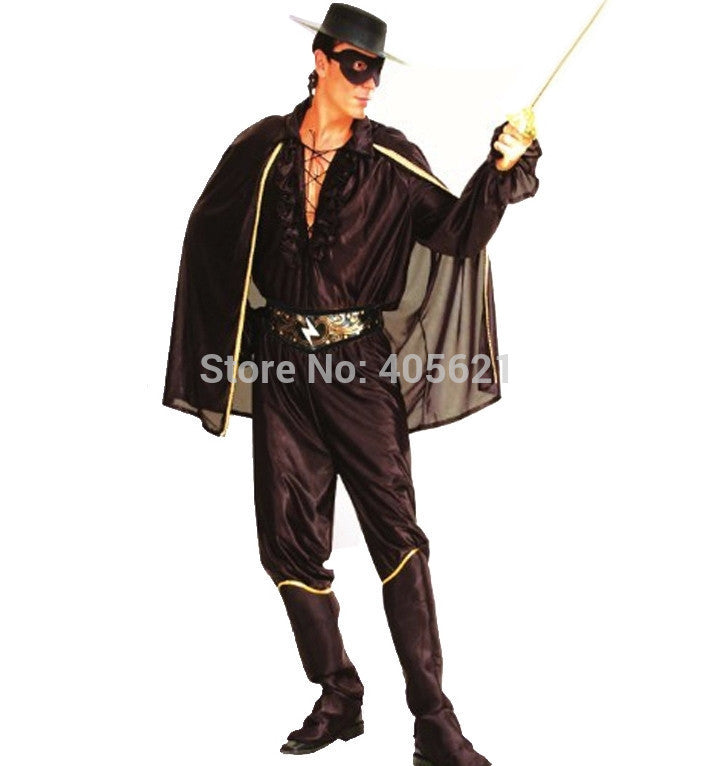 Adult Chivalrous Robbers Swordsman Zorro Suits Classic Halloween Costumes Christmas Makeup Makeup Cosplay Characters Masquerade