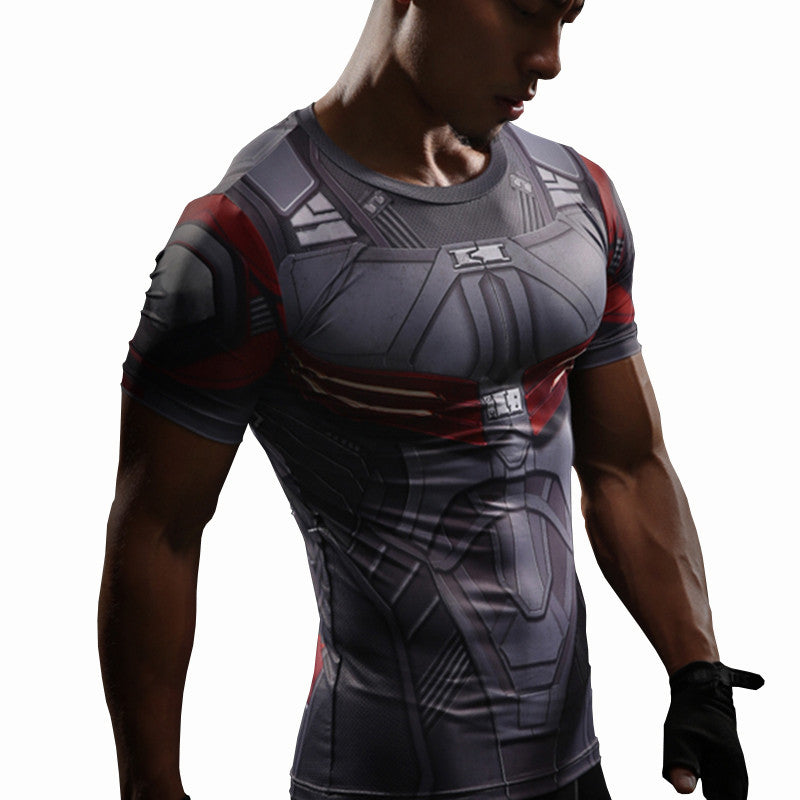 Falcon T Shirt Captain America Compression Shirt 3D Printed T-shirts Men Avengers Short Sleeve Quick Dry Fitness Cloth Male Tops