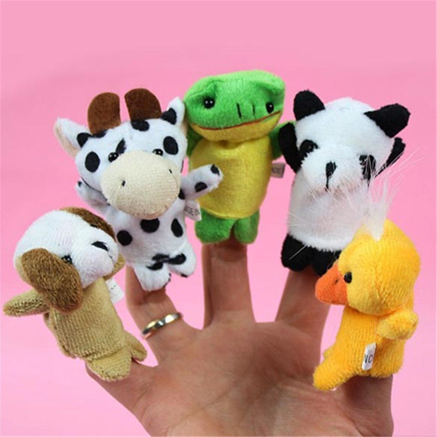 10 pcs Child Puppet Finger Doll Portable Cartoon Baby Plush Toys Kids Educational Toy Multi Color Hot Sale