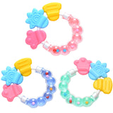 Newborn Comforting Educational Toys Durable Baby Infant Kid Rattles Biting Teething Teether Balls Toys Circle Ring VCI02 P65