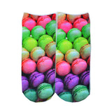 free shipping 1 Pair BOY&Girl's 3D Cute Candy Foods&Flowers Printed Multiple Colors Unisex Cotton Ankle Socks Intimate gift