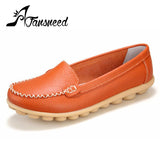 2016Spring and autumn genuine   leather female models flats  Peas shoes soft bottom