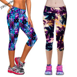Legging Women Print Summer Style Black Pants Capris Women Leggins Female Pants Thin and Soft Mid Calf Legging