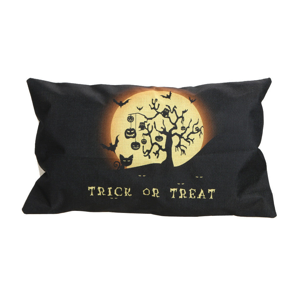 6 Halloween Style Cushion Sofa/Bed Waist Throw Pillowcase Cotton Linen Blended Pillow Cover For Home Decorative 30cm x 50cm