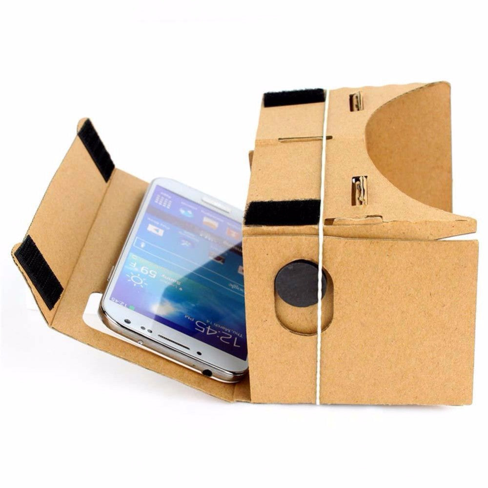 "Hot Sale DIY Magnet Google Cardboard Virtual Reality VR Mobile Phone 3D Viewing Glasses For 5.0"" Screen Google VR 3D Glasses"