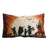 30 x 50cm Halloween Design Throw Pillow Cover Linen Cotton Blended Pillowcases Cushion Cover Home Decor for Chair Cushion Party