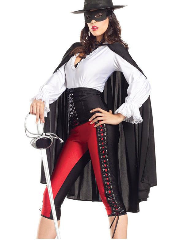Sexy Bandit Costume Adult Zorro Mexican Bandita Cowgirl Halloween Costume High Quality Female Cosplay Costume W159352