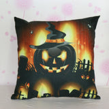 Halloween Pumpkin Square Pillow Cover Cushion Case Pillowcase Zipper Closure capa de almofada u6803