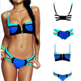 Swimwear Women Fashion Neoprene Bikini Woman New Summer 2016 Sexy Swimsuit Bath Suit Push Up Bikini set Bathsuit Biquini