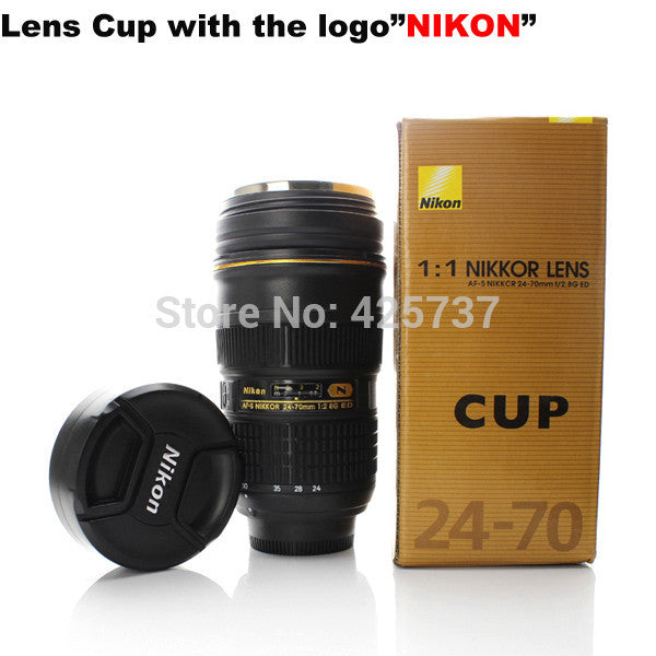 Free shipping  AF-S 24-70 F/2.8 ED 1:1 stainless steel nikon cup camea mug lens cup