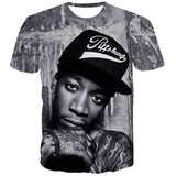 2016 Summer New Fashion Men Tupac 2Pac Weed Cat Tiger T Shirts Harajuku Shirts Casual 3D Character T-shirts Hip Hop Man Tops Tee