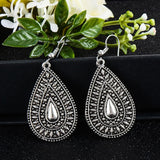 SHUANGR Fashion Hot Gold-color Metal Tassel Dangle Earrings Oversize Pendientes Long Earrings For Women Ethnic Indian Jewelry