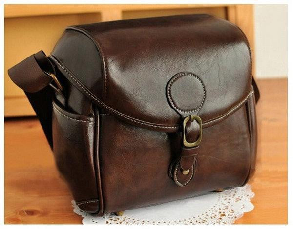 DSLR SLR Waterproof PU Leather Camera Bag Travel Bag Shoulder Bag For NIKON CANON SONY FUJI PENTAX OLYMPUS LEICA SAMSUNG