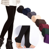 Women Autumn Winter THICK Warm Legging Brushed Lining Stretch Fleece Pants Trample Feet Leggings