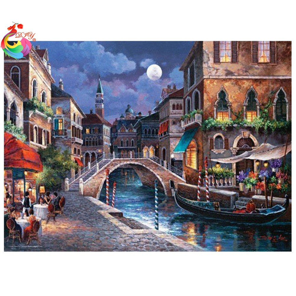 2016 5D Needlework Diy Diamond Painting City Cross Stitch 3d Diamond Embroidery Rubiks Cube Drill mosaic Picture Home Decor