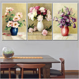 30*40CM triptych painting diamond embroidery flowers rubik cube diamond painting cross stitch set needlework beading pattern 5D