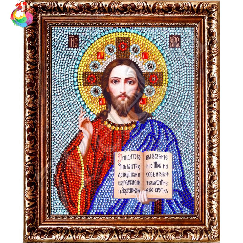 Diamond embroidery religion DIY 5D Round Diamond Mosaic Full Round Rubik Cube Diamond Painting Cross Stitch Embroidery Kits