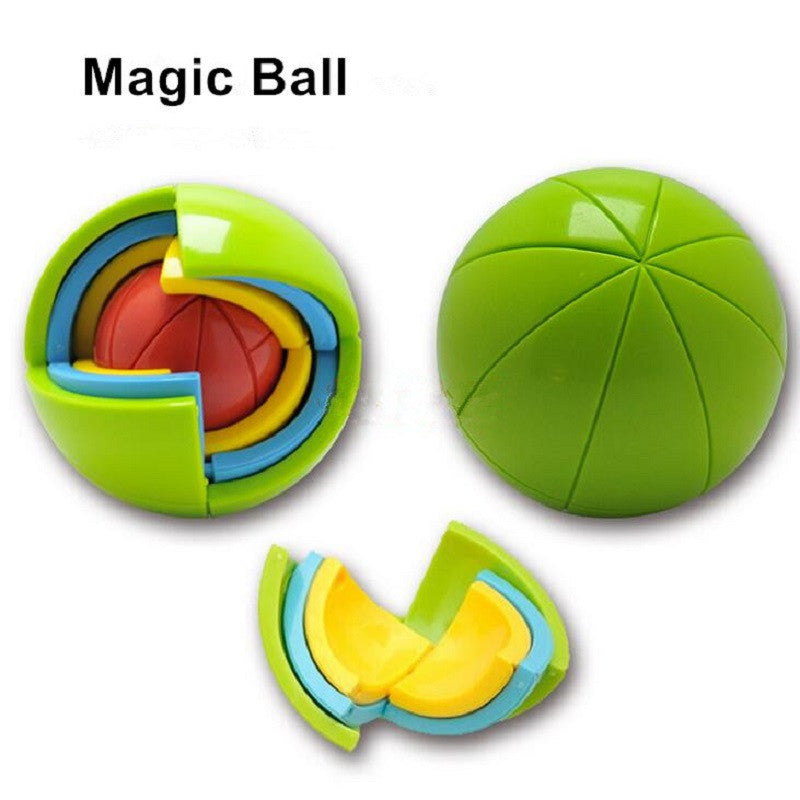 Free Shipping 3D Magic Ball Educational Maze Toys Intellect Cubes Puzzles Intelligence Games For Kids IQ Logical Training