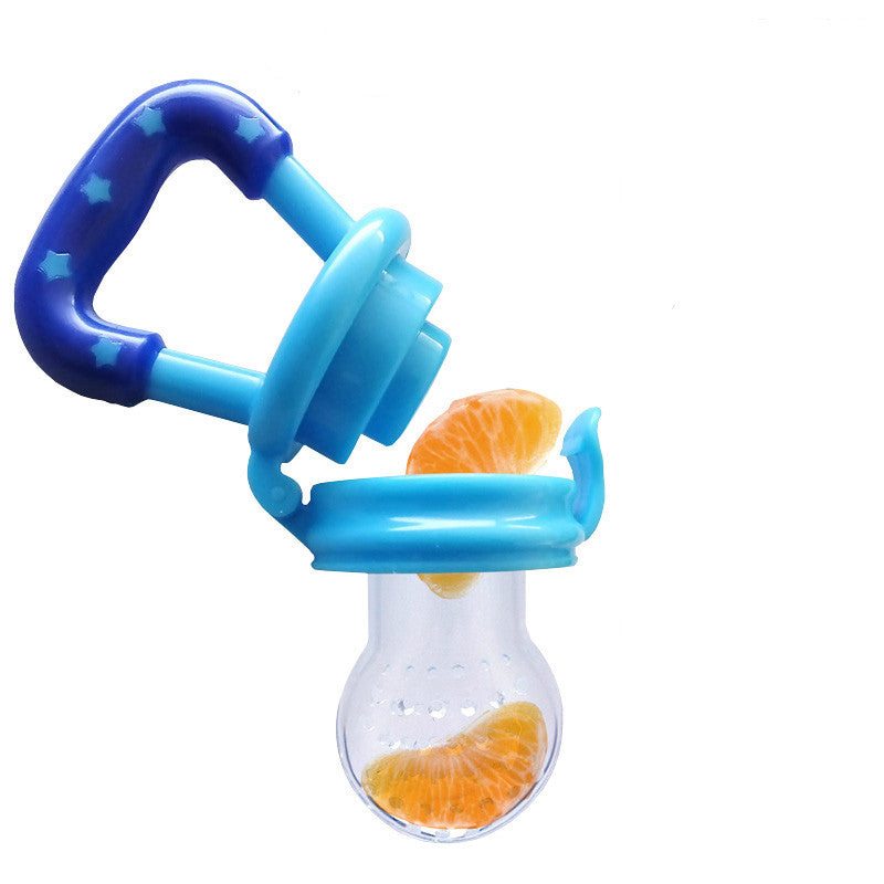 1 Piece Baby Teether Nipple Fruit Food BPA Free Safety Newborn Teethers Shape Baby Like Teether Oral Care Yellow Blue Pink - Blobimports.com