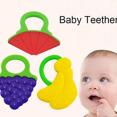 1 Pcs Infant Baby Teether Lovely Cartoon Shape Teethers Silicone BPA Free for 4M+ Baby Free Shipping - Blobimports.com