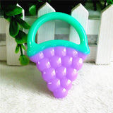 Baby teeth food grade silicone deciduous toothbrush baby teether fruit feeding bottle pattern toothbrush or pacifier clip chain