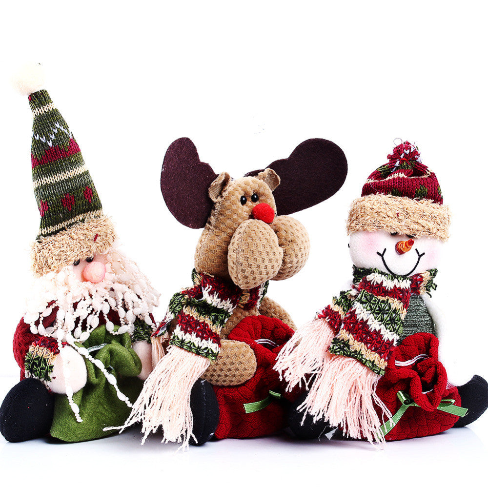 2014 3 Styles Reindeer/ Snowman /Santa Claus Ornament Natal Cute Christmas Stocking New Year Christams Decoration 1Pcs 1 Style