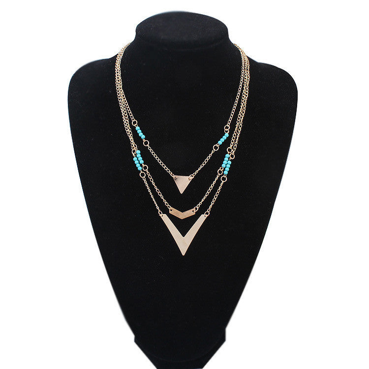 2015 New Vintage choker Chain Necklaces Pendants multilayer boho jewelry for women