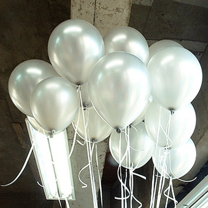 High Quality 10pcs/lot 1.5g Silver Latex Balloon Air Balls Inflatable Wedding Birthday Party Decoration Float Balloons Kids Toys