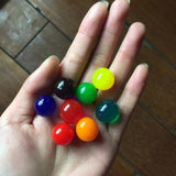 25pcs/lot Pearl Shape Big 13-16mm Crystal Soil Mud Hydrogel Gel Growing Water Balls Kids Toy Water Beads Home Decoration