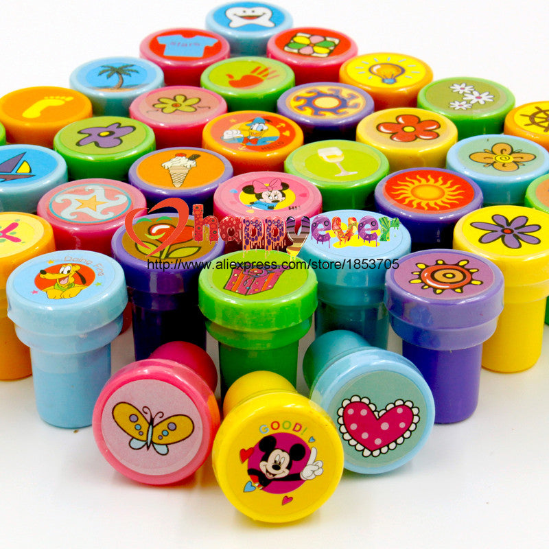 36PCS Self-ink Stamps Kids Party Favors Event Supplies for Birthday Party Gift Toys Boy Girl Goody Bag Pinata Fillers