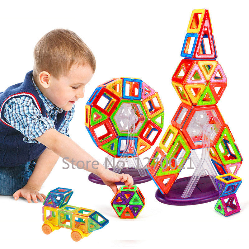 108PCS Mini Magnetic Designer Construction Toy Kids Educational Toys Plastic Creative Bricks Enlighten Magnetic Building Blocks