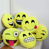 33cm Emoji Pillow Smiley Emotion Round Throw Pillow Stuffed Plush Soft Toy QQ Facial Emotions Pillow Cute Gift For Baby Kids