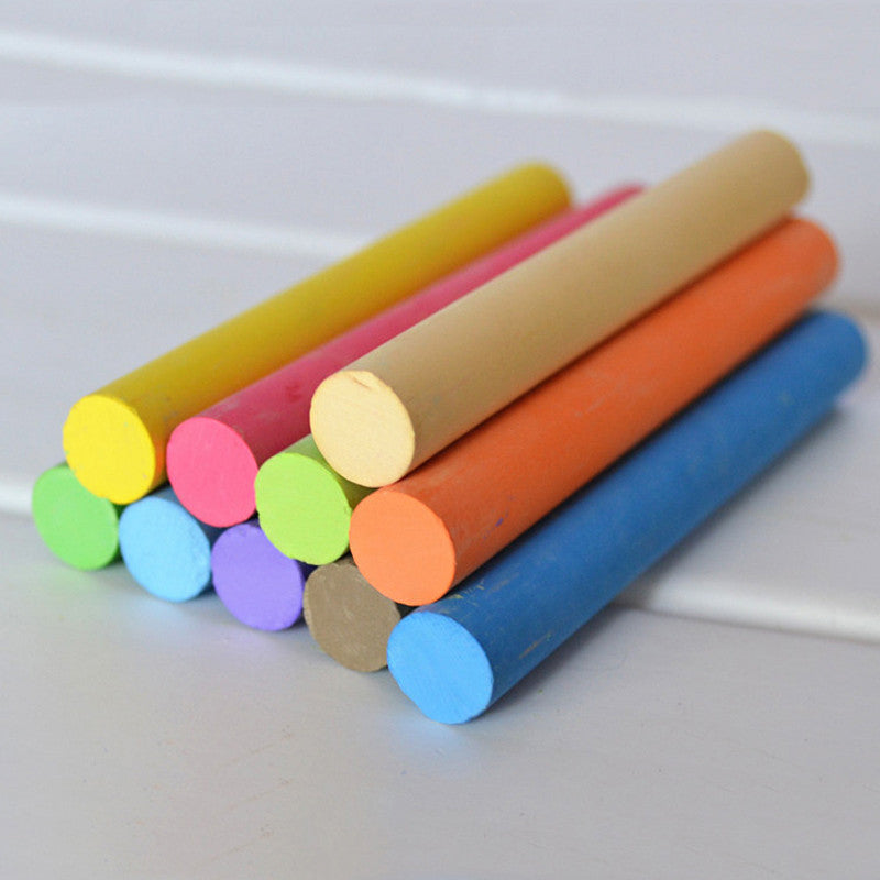 10 pcs/set Korea Colorful Chalk Dust-free Chalk Pen  Non-toxic Dustless Box Chalks for Kids School Stationery Supplies