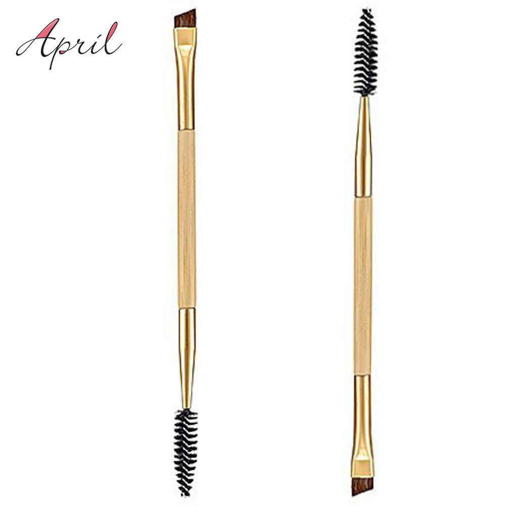 1PCS Double Ends Makeup Tools Bamboo Brushes Eyelash Lashes Blending Eye Brush Mascara Cosmetic Eyebrow Comb Make up Maquiagem