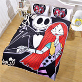 Hot Sale Nightmare Before Christmas Bedding Set Qualified Bedclothes Unique Design No Fading Duvet Cover Twin Full Queen