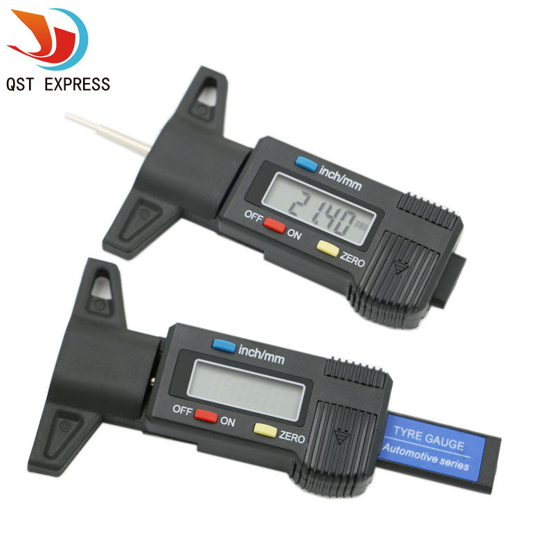Brandnew qstexpress601 New Car Tyre Digital Tread Brake Pad Shoe Gauge Depth Tester Guage Black Free Shipping