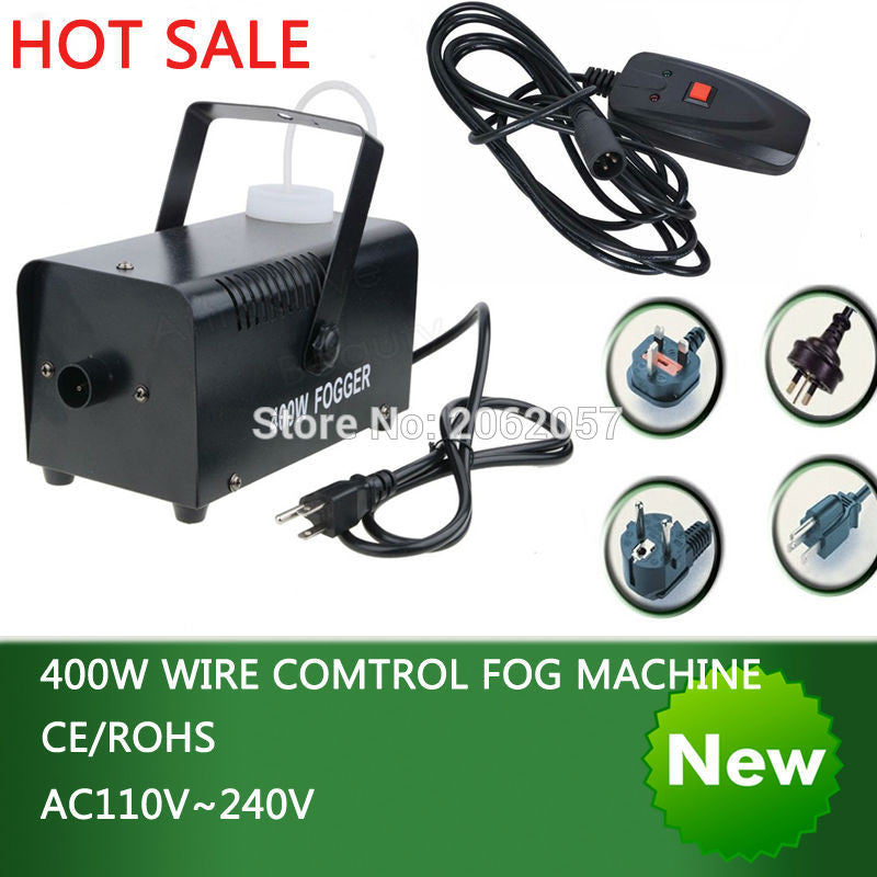 Hot sale colorful package mini 400W Wire control fog machine pump dj disco smoke machine weedding party stage Lampblack machine
