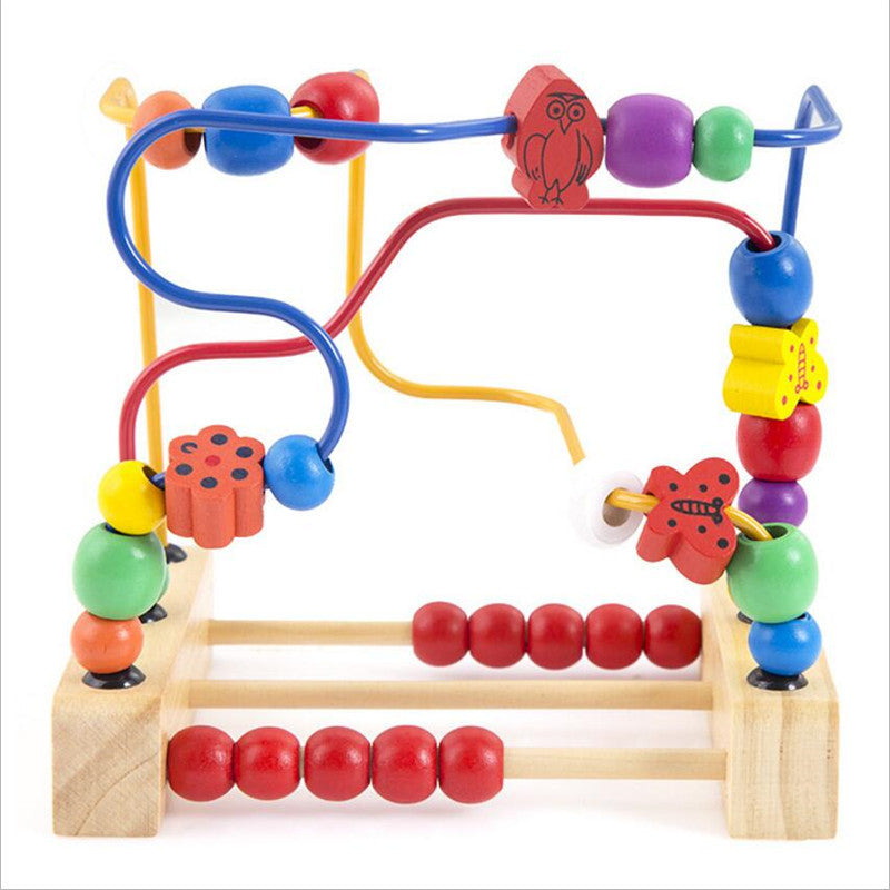 Baby Toy Wooden Toy  Wooden Bead Maze Child Beads Wooden Toys Educational Toys Birthday Gift WD012