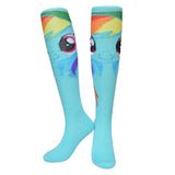HarryPotter Superman and Pony knee high long Socks summer style cotton weed socks party cosplay Handwork Tail socks  300w