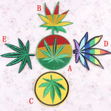 Palm Green Leaf Iron On Vintage Cute Patches Tree Cheap Embroidered Hippie Patches For Clothes Stickers Sewing Weed Retro Boho