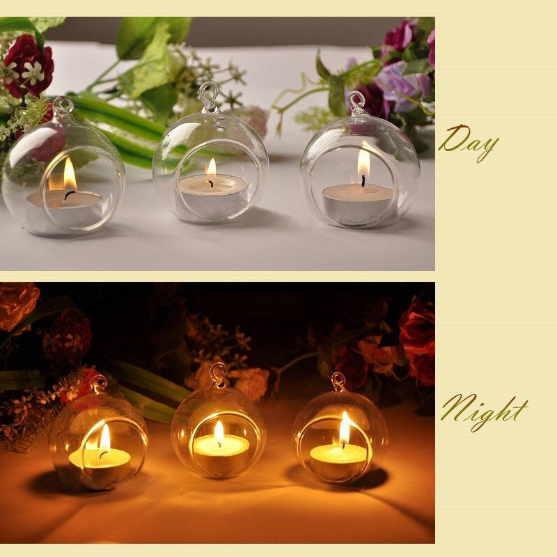 Newest 1PCS Crystal Glass Candlestick Weeding Home Decor Hang Candle Holders Romantic Dinner Practical 2016