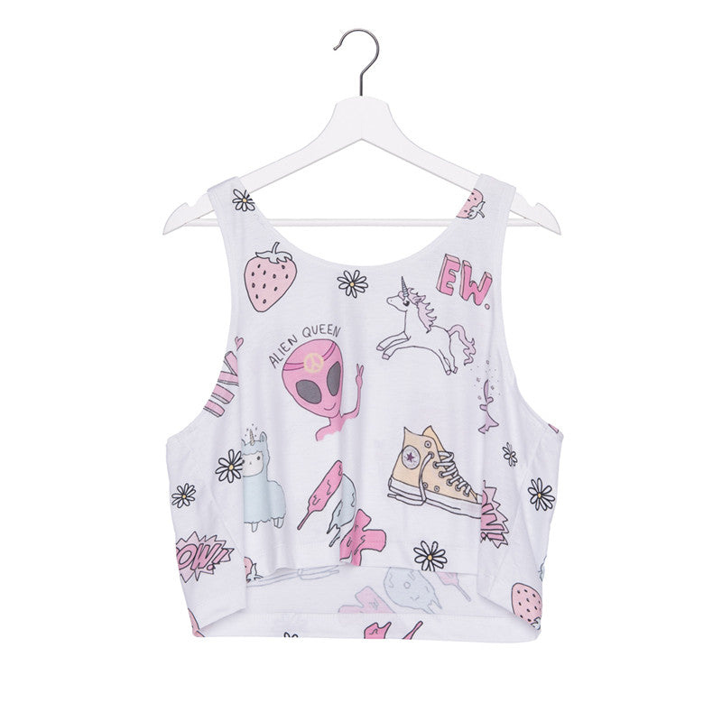 Zohra New arrival Summer Style Short Tank Top USA Weed Adid 3D Printed Women Tops Crop Sexy Vest Female Sleeveless Women Camis
